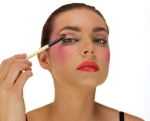 3rd Step Add more color, for a fun night time look. Use the blush color on the eyes as well by running the color along the socket line. This is a runway look, so get inspired and have fun.